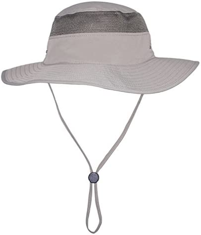 APAS Outdoor Large Brim Bucket Hat Quick-Dry Breathable Mesh Fishing Hats, Absorbent Sun Cap UPF50