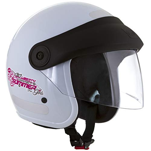 Pro Tork Capacete Liberty Compact Summer For Girls 56 Branco