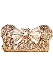 Disney Minnie Sequin Zip Wallet Limited Edition In Gold Sequin