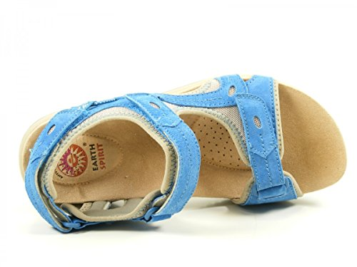 Earth Spirit 32028-17 Palm Bay Chanclas para mujer Blau
