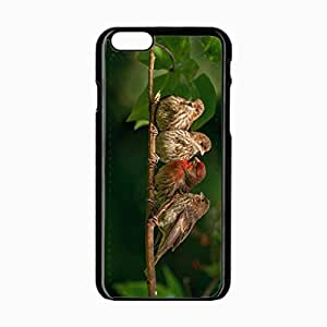 iPhone 6 Black Hardshell Case 4.7inch chaffinches family branch bird Desin Images Protector Back Cover