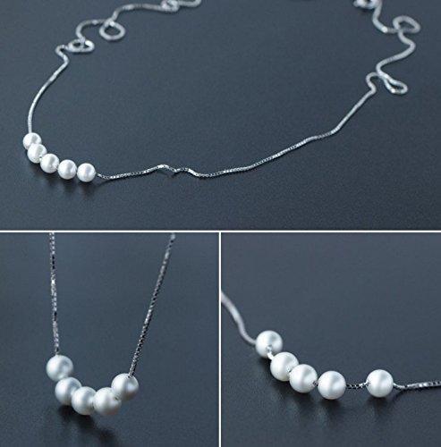 Helen de Lete Elegant Pearls Sterling Silver Collar Necklace
