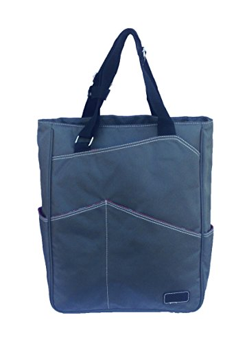 Tennis Tote Bag - Maggie Mather Tennis Tote, Travel Tote (Pewter)