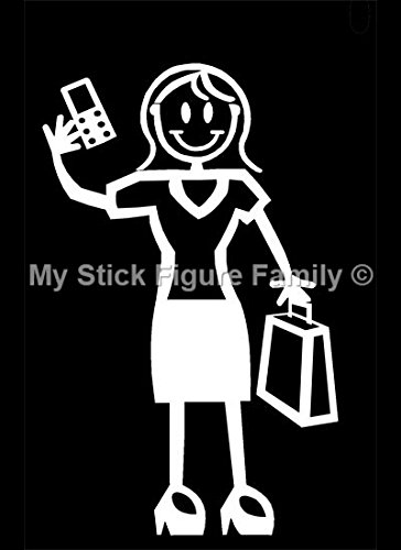 Official My Stick Figure Family Car Window Vinyl Sticker Decal Female  Mobile Phone Briefcase F10