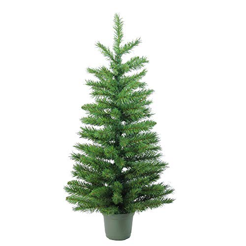 Northlight Slim Walkway Artificial Potted Christmas Tree, 3', Green (Trees Christmas Small Potted)