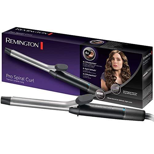 Remington Pro Spiral Curl CI5519 Rizador de pelo, Pinza de 19 mm, Ceramica y Titanio, Punta Fria, Digital, Negro