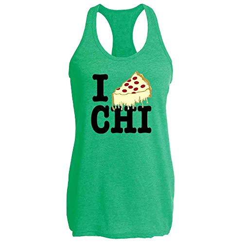 I Pizza Chicago Heather Kelly L Womens Tank Top ()
