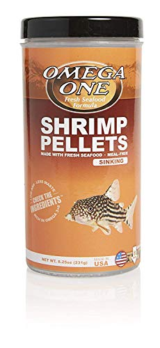 OMEGA One Shrimp Pellet 8.25oz, Yellow (Hbh Formula)
