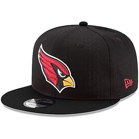 newest collection 6824f 26357 Amazon.com   New Era Arizona Cardinals Hat NFL Black Team Color Logo 9FIFTY  Snapback Adjustable Cap Adult One Size   Clothing