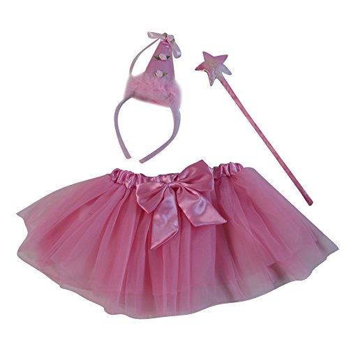 Pink Birthday Princess Wand, Headband & Tutu -