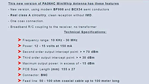 Amazon.com: Hockus Accessories MiniWhip Active Antenna HF LF ...