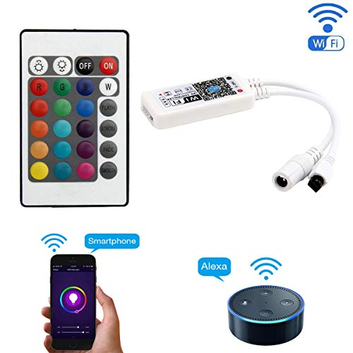 SuperNight WiFi Wireless LED Smart Controller Working with Android and iOS  System Mobile Phone Free App for RGB LED Light Strips 5050 3528 LEDs 5V to