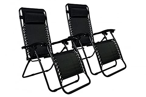 Black 2X Outside Zero Gravity Relax Chair Beach Porch Pool Yard Lounge Outdoor Black (House Plans In Autocad)