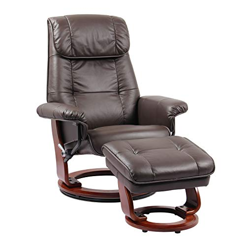 Coja by Sofa4life C-Bro Leclair Leather Recliner and Ottoman ()