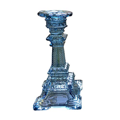 UrChart Eiffel Tower Style Glass Crystal Candlesticks Candelabras Romantic Bridal Table Taper Candleholder 6.1