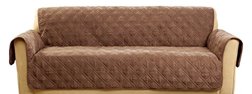 Sure Fit SF45036 Deluxe Non Skid Waterproof Pet Sofa Furniture Cover - Brown