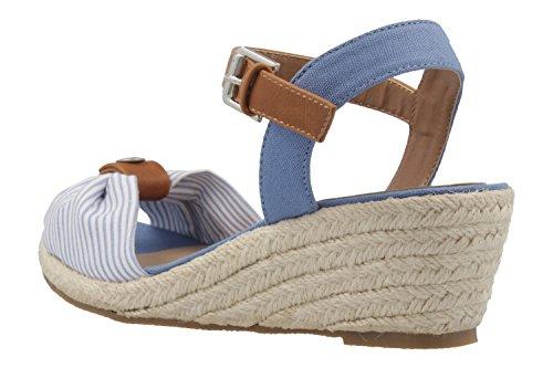 a854257dcb53 Mustang - Damen Keil-Sandaletten - Hellblau Schuhe in Übergrößen, Größe 45   Amazon.de  Schuhe   Handtaschen