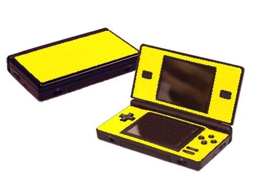 Lemon Yellow Vinyl Decal Faceplate Mod Skin Kit for Nintendo DS Lite (DSL) Console by System Skins (Ds Vinyl Skin)