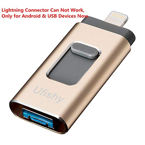 iPhone Lightning Flash Drive 32GB, Ufishy [3-in-1] iOS Pen Drive External Storage Memory Stick for iPhone/iPad/iPod/Mac/Android/PC/Laptops (New Version) by Ufishy