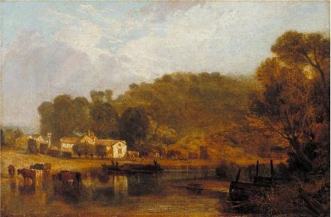 Oil Painting 'Joseph Mallord William Turner - Cliveden On Thames,1807' 18 x 27 inch / 46 x 70 cm , on High Definition HD canvas prints is for Gifts And Game Room, Garage And Gym Decoration