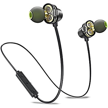 Dual Driver Bluetooth Earphones, Awei Wireless APTX In Ear Sports Earbuds Sweatproof Headphones for Running Exercise (HD Sound, Bluetooth 4.2, IPX5, ...