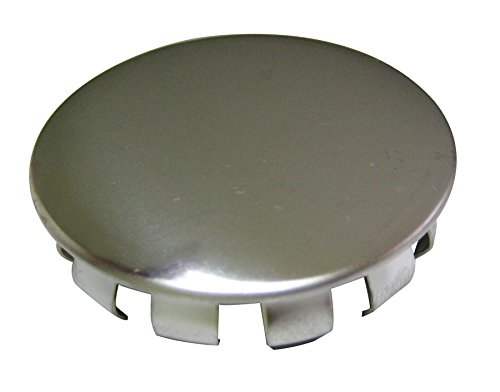Plumb Pak PP21511 Snap-in Faucet Hole Cover, 1-1/2 in Od, Stainless Steel