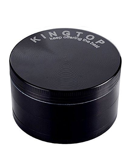 Kingtop Herb Spice Grinder Large 3.0 Inch Black by KINGTOP