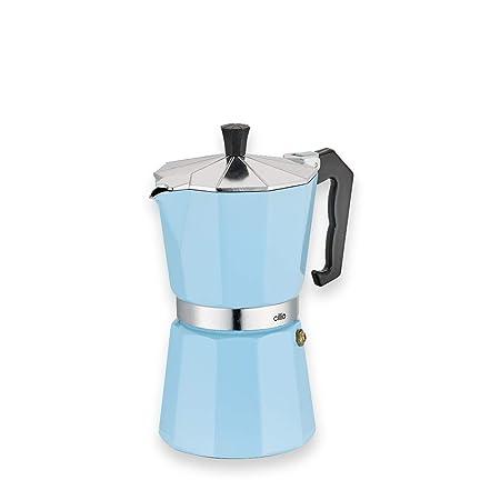 Cilio Classico - Cafetera Italiana (6 Tazas), Color Azul Claro