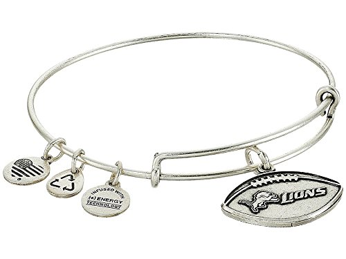 Alex and Ani Women's NFL Detroit Lions Football Bangle Rafaelian Silver One Size