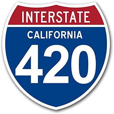 Cannabis Marijuana sticker// decal 420 Green Indoe Northern Cal Weed