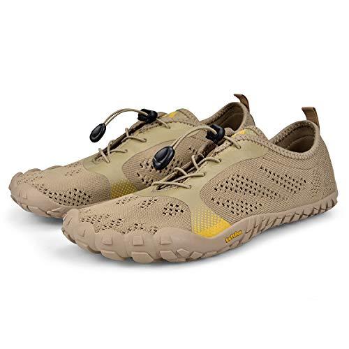 QANSI Womens Hiking Shoes Non-Slip Mesh Outdoor Walking Sports Gym Trail Running Sneakers