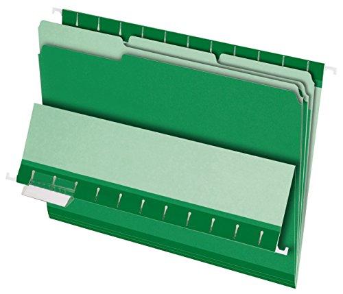Ltr File - Pendaflex 421013BGR Pendaflex Interior File Folders, 1/3 Cut, Top Tab, LTR, Bright Green, 100/Box