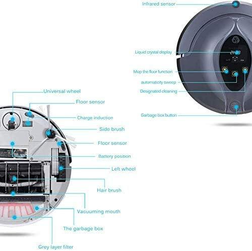 CHUTD Aspirateur Robot, APP de Mode de Nettoyage 3 en 1 avec Robot de Balayage à télécommande 4 Modes de Nettoyage pour Tapis Mince et Sol Dur