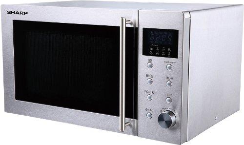 Sharp R-28STW Microondas 23L, Control Mecánico y Táctil, 800W, 800 ...