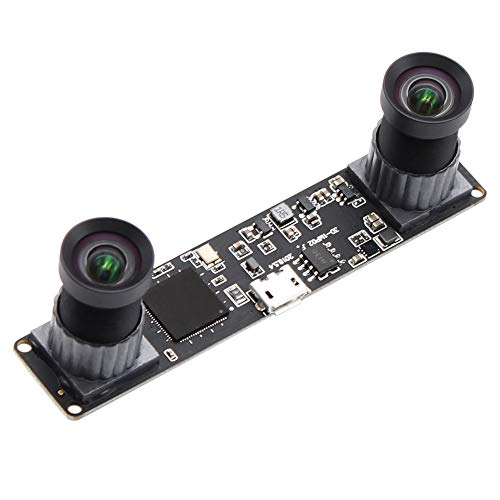 Synchronized Dual Lens Stereo USB Camera 1.3MP HD 960P Webcam 3D VR Web Camera with 100 Degree No Distortion Lens,CMOS OV9715 Image Sensor Camera Module for Android,Linux,Windows Plug&Play OTG Support (Best 3d Vr Camera)