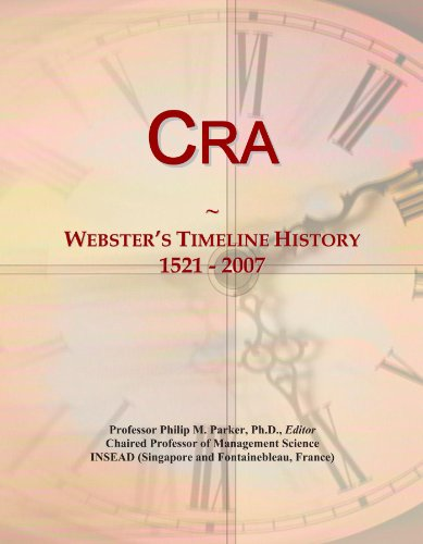 Cra  Websters Timeline History  1521   2007