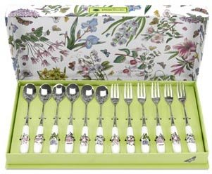 (Portmeirion Botanic Garden - Pastry Fork And Tea Spoon Set Of)