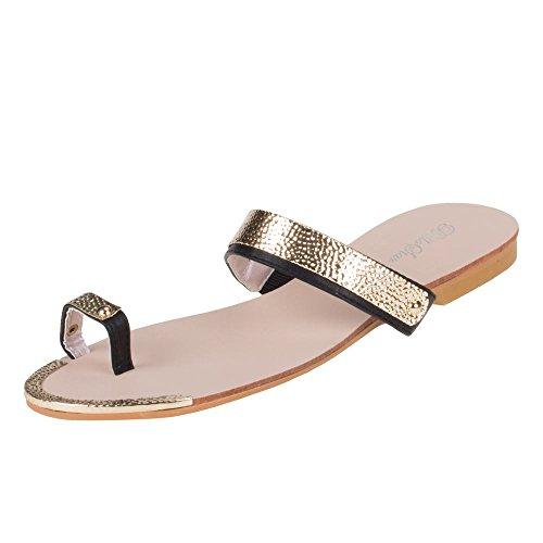 Ital-Design - Sandalias de vestir de material sintético para mujer, color negro, talla 36