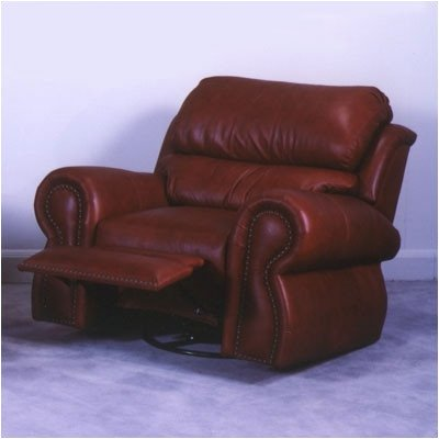 Cordova Lift Chair Leather: Navajo - Pecan, Nailhead: Brass Large Round - (Pecan Round Chair)