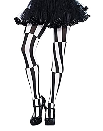 728dac8094a33 Leg Avenue Optical Illusion Pantyhose (Black/White): Amazon.co.uk: Clothing