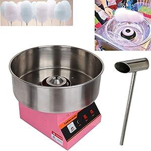 TryESeller 1300W Máquina de Algodón de Azúcar Comercial de Acero Inoxidable Cotton Candy Machine 10