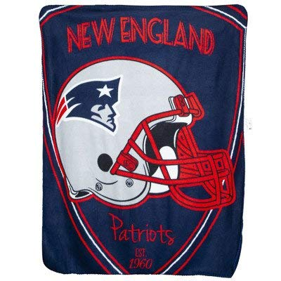 England New Blanket Patriots Soft (The Northwest Company Team Logo Soft Fleece Throw Blanket, 40 in x 50 in (New England Patriots))