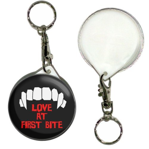 BadgeBeast Love At First Bite - Button Badge Key Ring