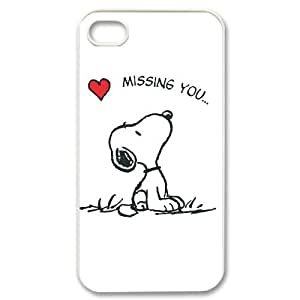 Iphone 4,4S 2D Customized Hard Back Durable Phone Case with snoopy Image