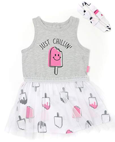 Mini Heroes - Infant Girl's Just Chillin' Popsicle Turu Dress & Headband, 2 PC Set (12M) ()