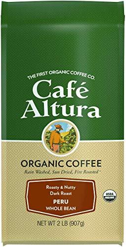 Cafe Altura Whole Bean Organic Coffee, Peruvian Dark Roast, 2 Pound (Best Peruvian Coffee Brands)