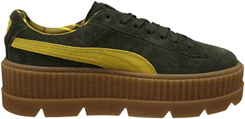 WOMENS RIHANNA PUMA x ICE VANILLA CLEATED ROSIN SUEDE CREEPER SHOES FENTY LEMON SxHOqnwdn0