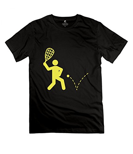 YANG Racquetball Black Standard Weight Tee For Mens XXL black