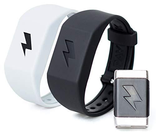 Pavlok Shock Clock Wake Up Trainer with Additional Silicone Band (White) and Exclusive Habit Change eBook - Wearable Smart Alarm Clock - Never Hit Snooze Again by Pavlok (Image #1)