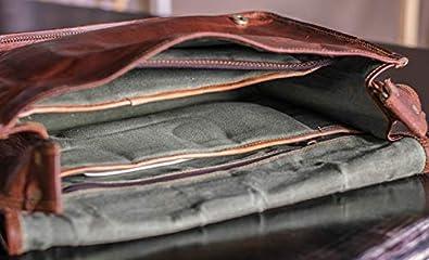 15 18 inches 45.7 cm Leather Bags Vintage Leather Laptop Bag Messenger Handmade Briefcase Crossbody Shoulder Bag 11 13 x 18 16